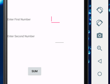 Android Application for Adding Two Numbers