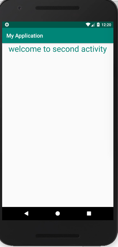 moving from one activity to another in android example 2