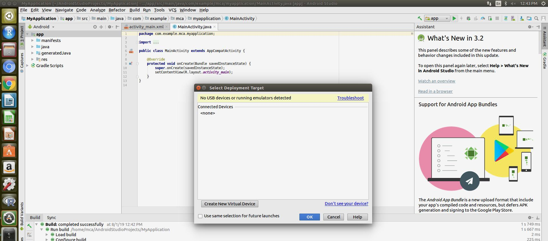 how to install android studio in ubuntu or command to install android studio in ubuntu