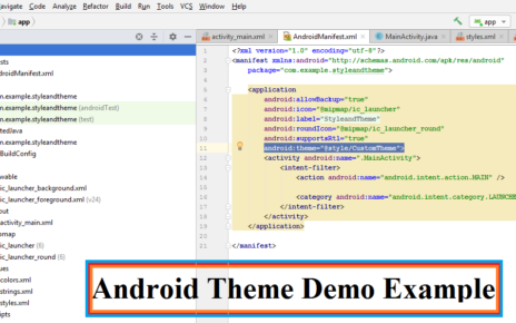 Android Theme Demo Example
