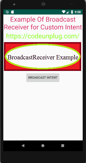 Broadcast Receiver