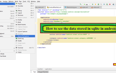 How to see the data stored in sqlite database in android studio
