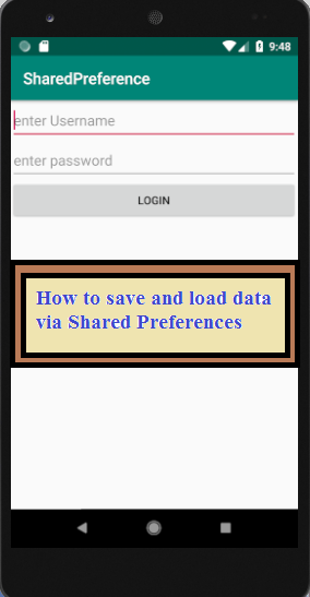How to save and load data via Shared Preferences in Android