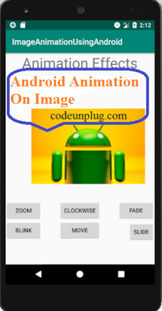 Android Rotate Animation