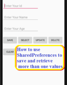 How to use Shared Preferences to save more than one values