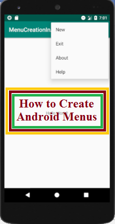 How to Create Android Menus