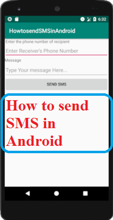 How to send SMS in Android